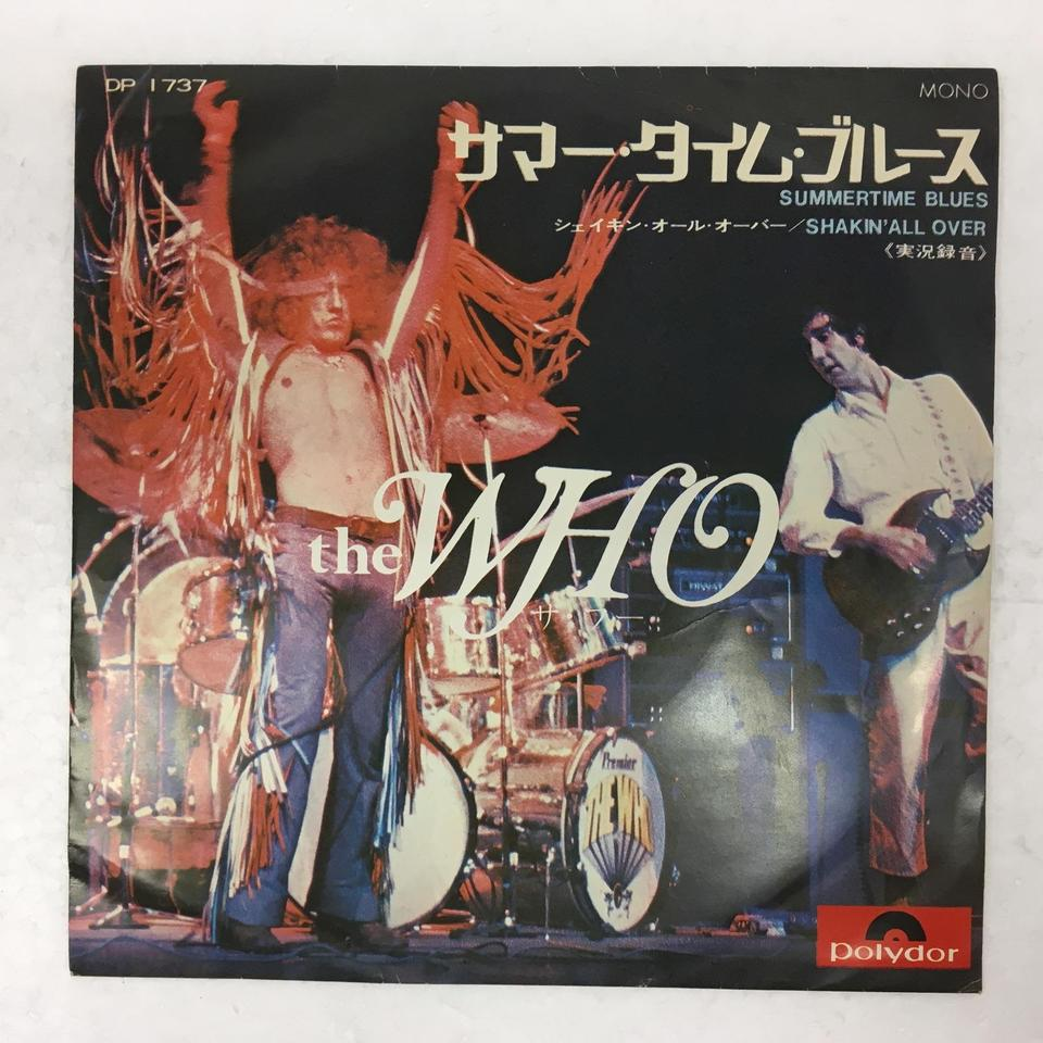 「SUMMERTIME BLUES」「SHAKIN' ALL OVER」/THE WHO THE WHO 画像
