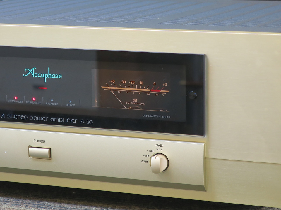 A-30 Accuphase アキュフェーズ パワーアンプ(トランジスター) 画像f