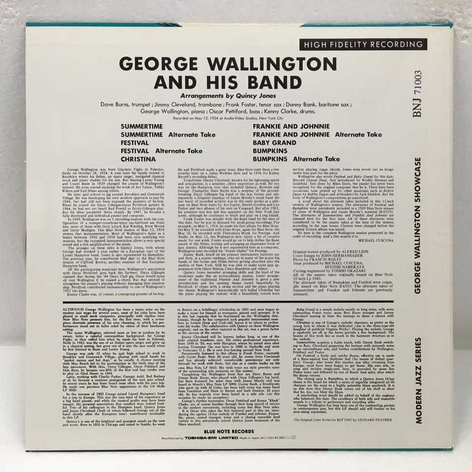 GEORGE WALLINGTON AND HIS BAND GEORGE WALLINGTON 画像
