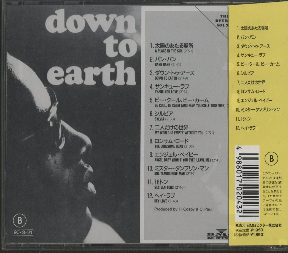 DOWN TO EARTH/STEVIE WONDER  画像