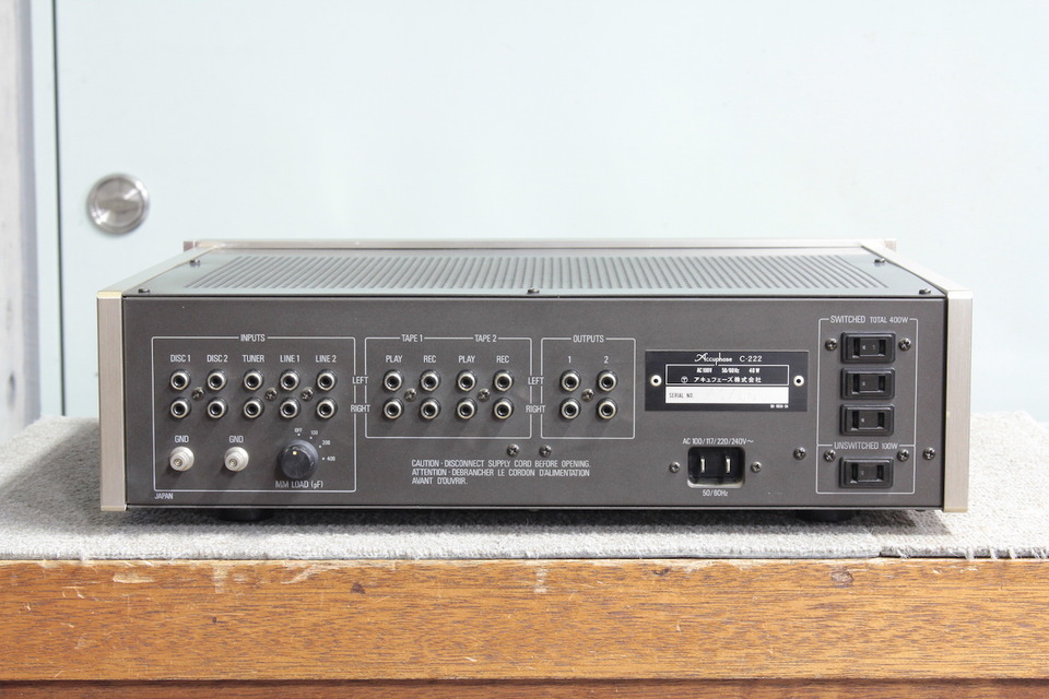 C-222 Accuphase アキュフェーズ コントロールアンプ(トランジスター) 画像e