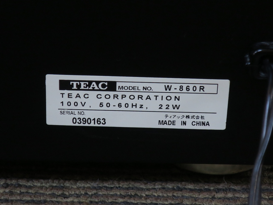 W-860R TEAC 画像