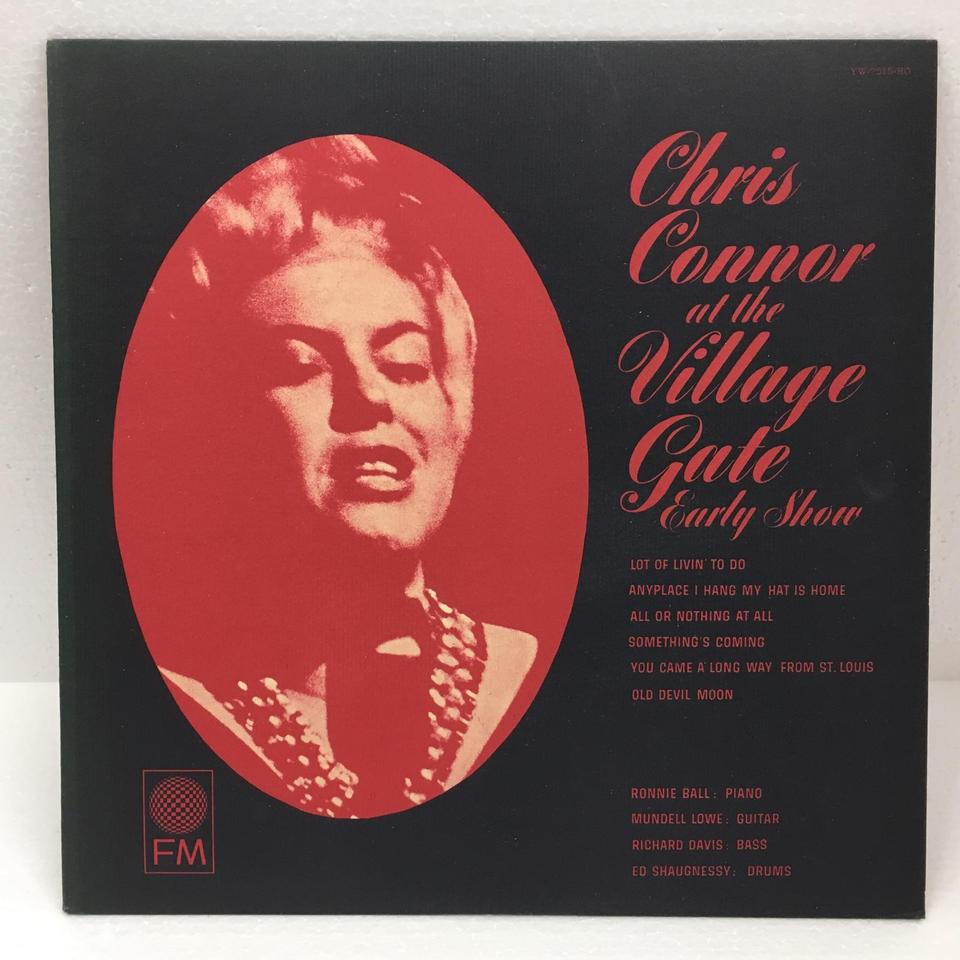 CHRIS CONNOR AT THE VILLAGE GATE CHRIS CONNOR  LPジャズボーカル 画像a