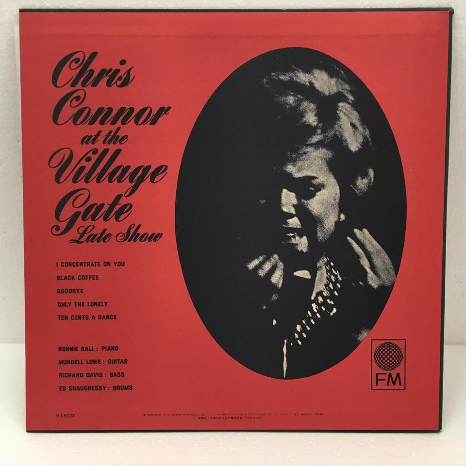 CHRIS CONNOR AT THE VILLAGE GATE CHRIS CONNOR  LPジャズボーカル 画像b