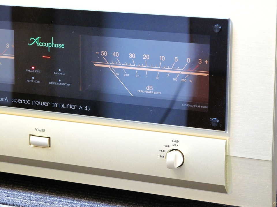 A-45 Accuphase アキュフェーズ パワーアンプ(トランジスター) 画像f