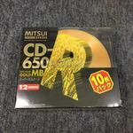【未開封】GOLD CD-R 650MB(10枚パック)