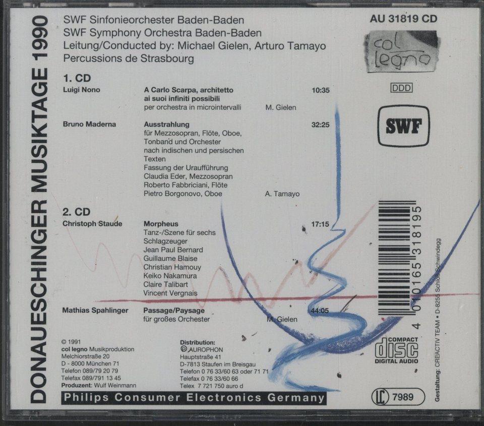 ドナウエッシンゲン音楽祭1990 ...