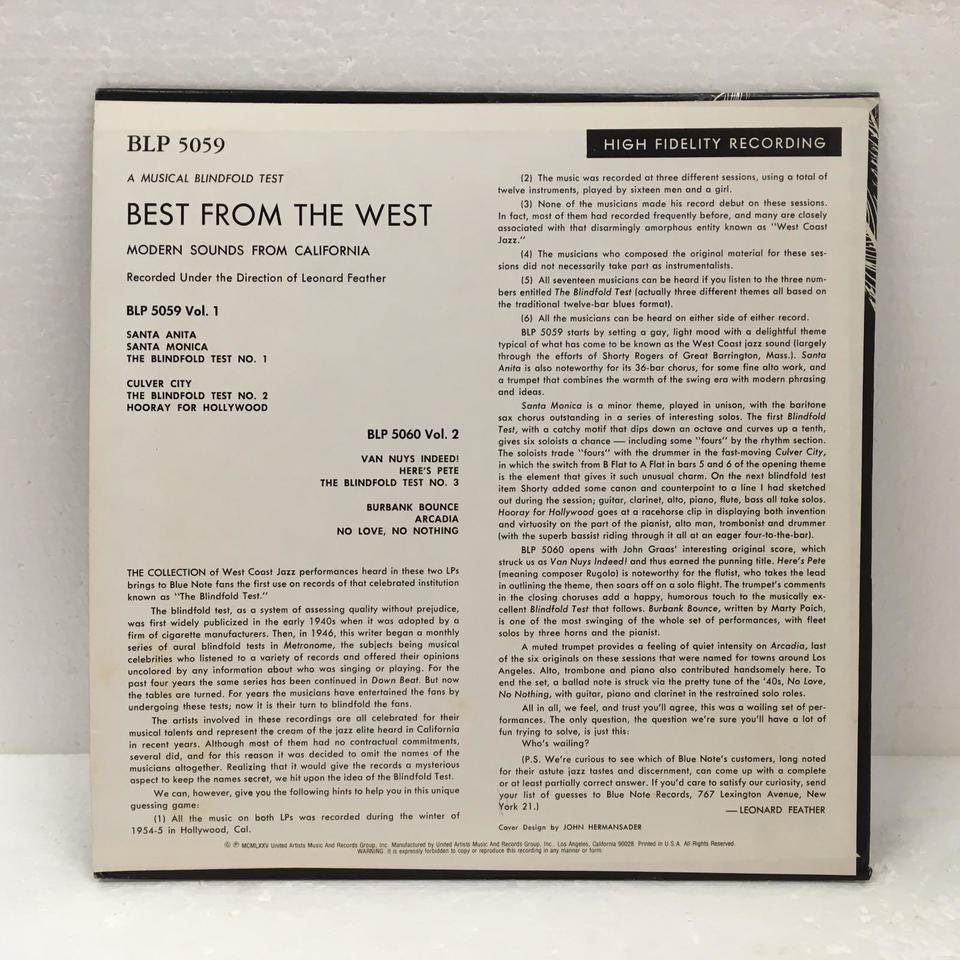 MODERN SOUNDS FROM CALIFORNIA-BEST FROM THE WEST VOL.1 V.A. 画像