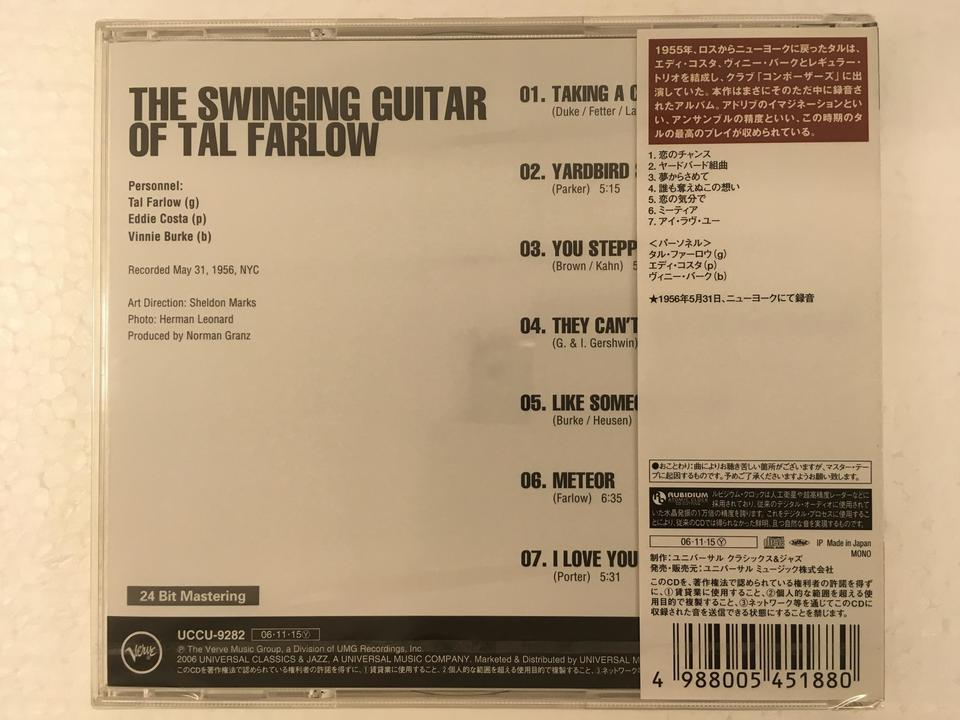【未開封】THE SWINGING GUITAR OF TAL FARLOW TAL FARLOW 画像