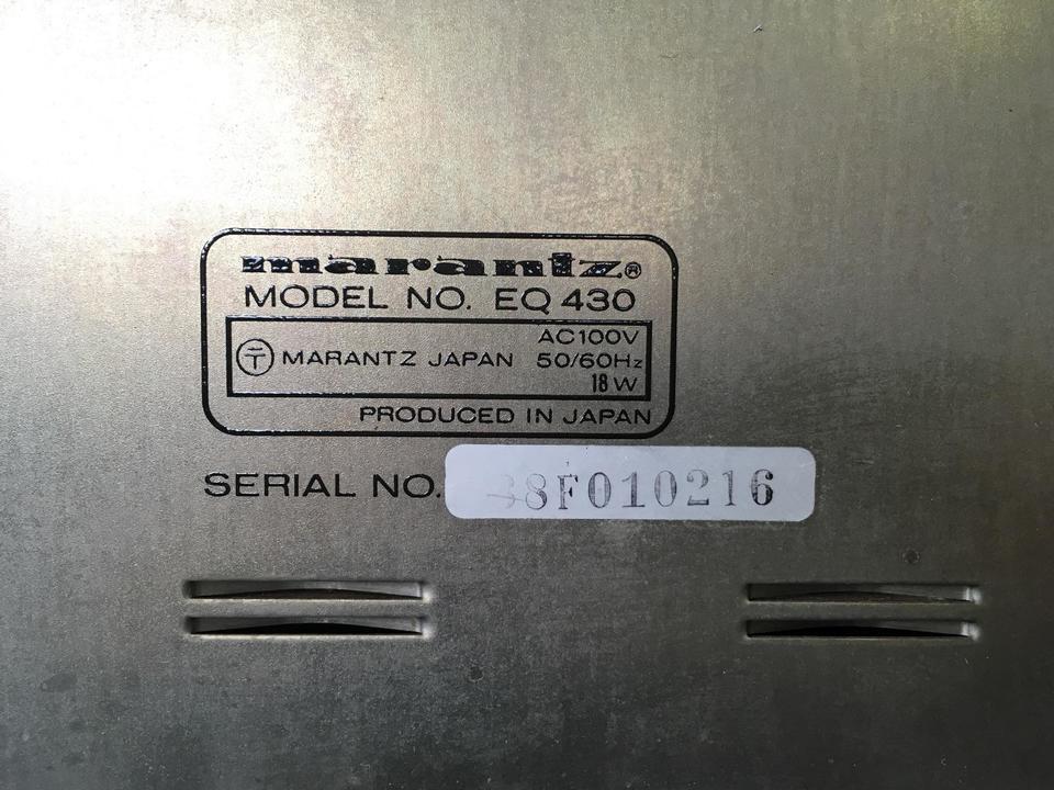 EQ430 marantz 画像