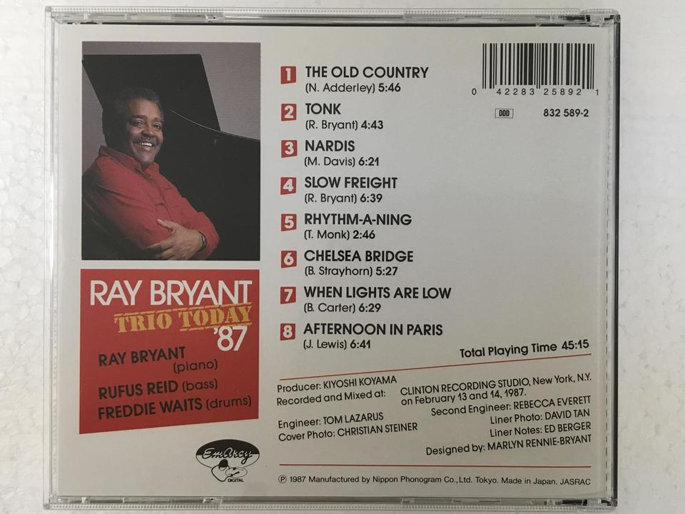 TRIO TODAY '87/RAY BRYANT RAY BRYANT 画像