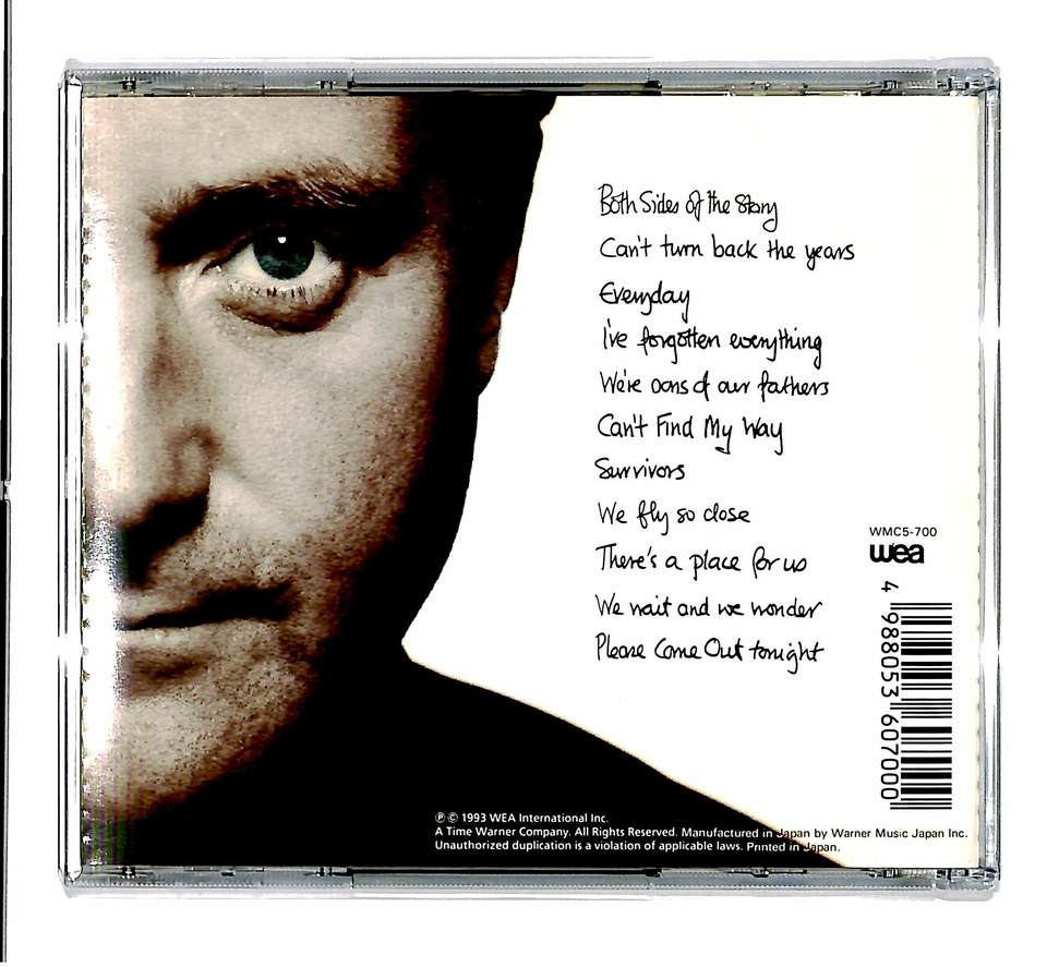 BOTH SIDES/PHIL COLLINS PHIL COLLINS 画像