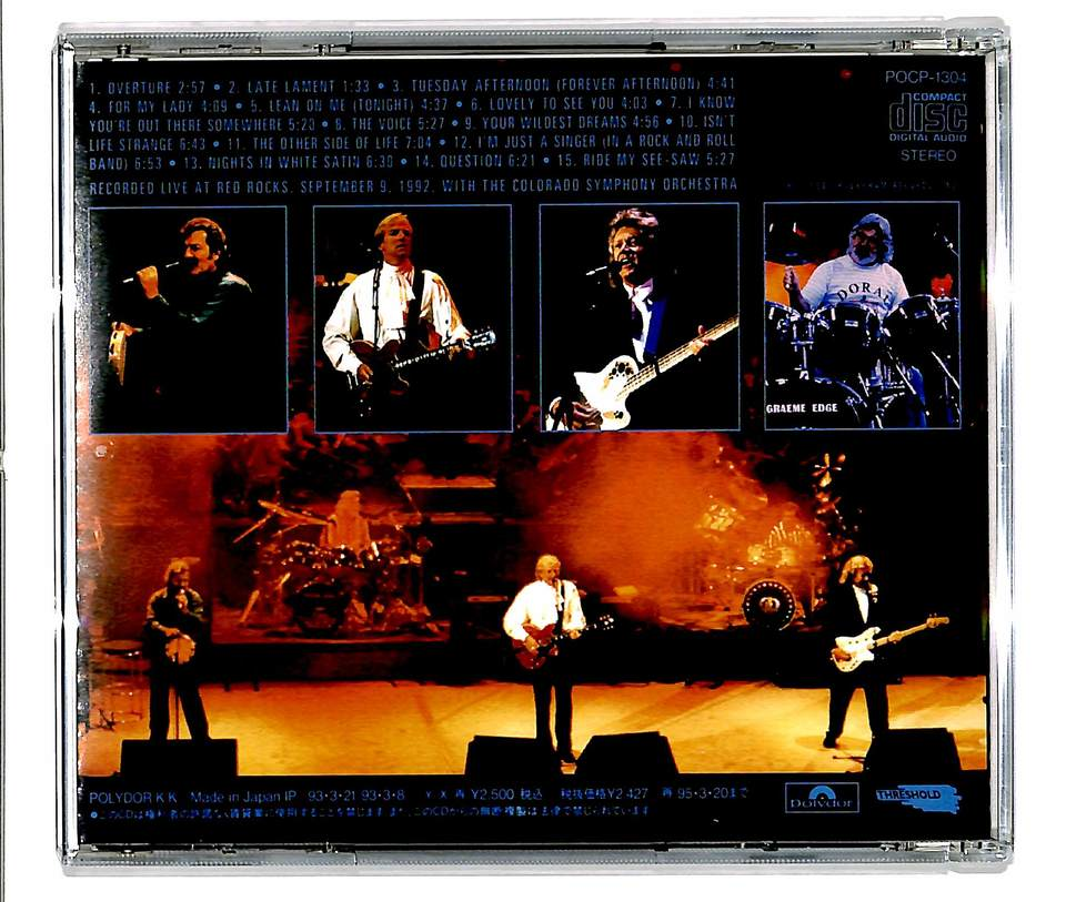A NIGHT AT RED ROCKS/THE MOODY BLUES THE MOODY BLUES 画像