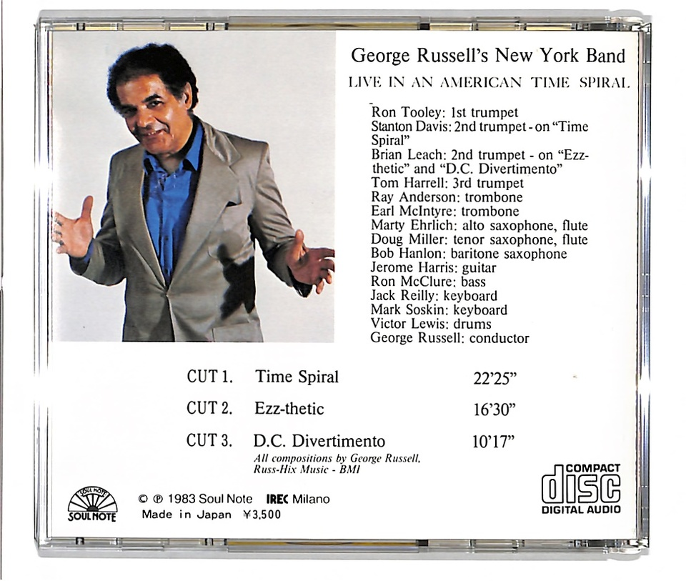 LIVE IN AN AMERICAN TIME SPIRAL/GEORGE RUSSELL'S NEW YORK BAND GEORGE RUSSELL 画像