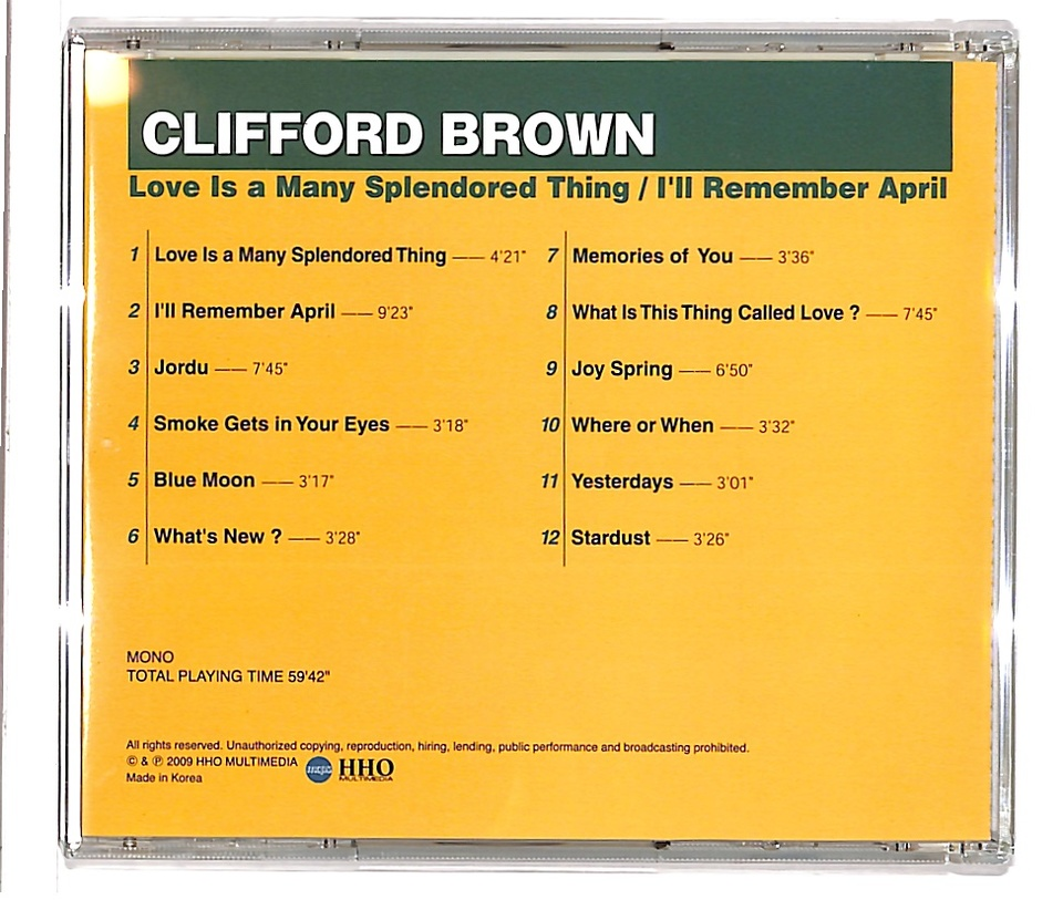 LOVE IS A MANY SPLENDORED/CLIFFORD BROWN CLIFFORD BROWN 画像