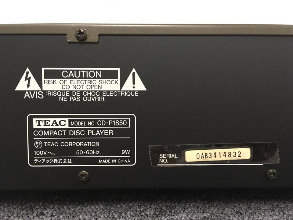 CD-P1850 TEAC 画像