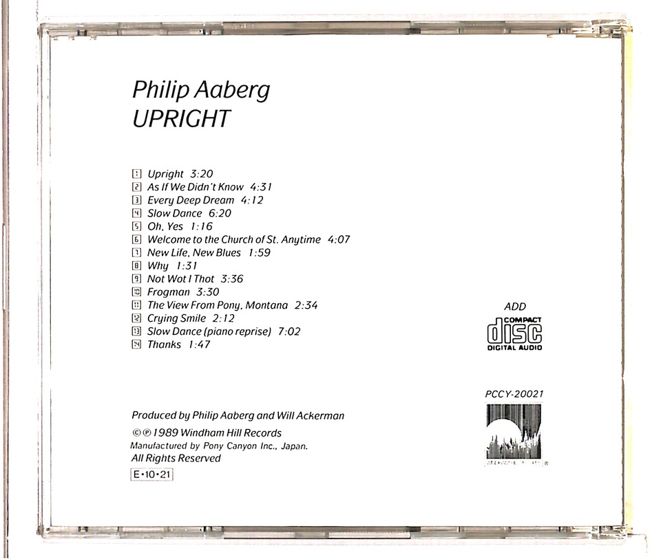 UPRIGHT/PHILIP AABERG PHILIP AABERG 画像