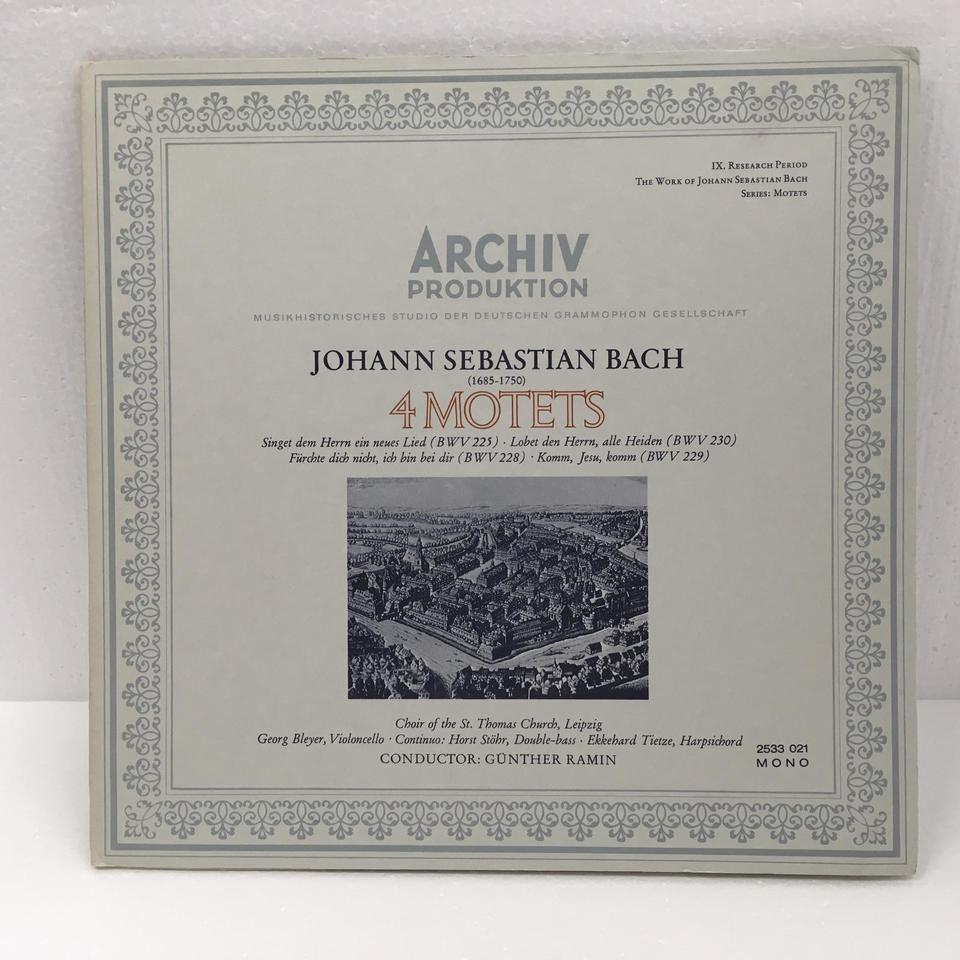 J.S.バッハ:4つのモテット J.S.バッハ , 中古オーディオ 高価