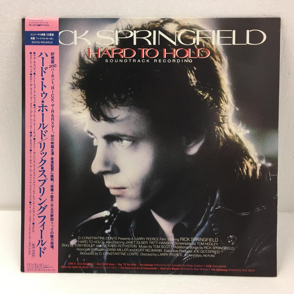 HARD TO HOLD - SOUNDTRACK RECORDING/RICK SPRINDFIELD RICK SPRINDFIELD 画像