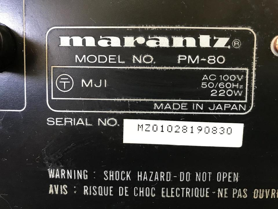 PM-80 marantz 画像