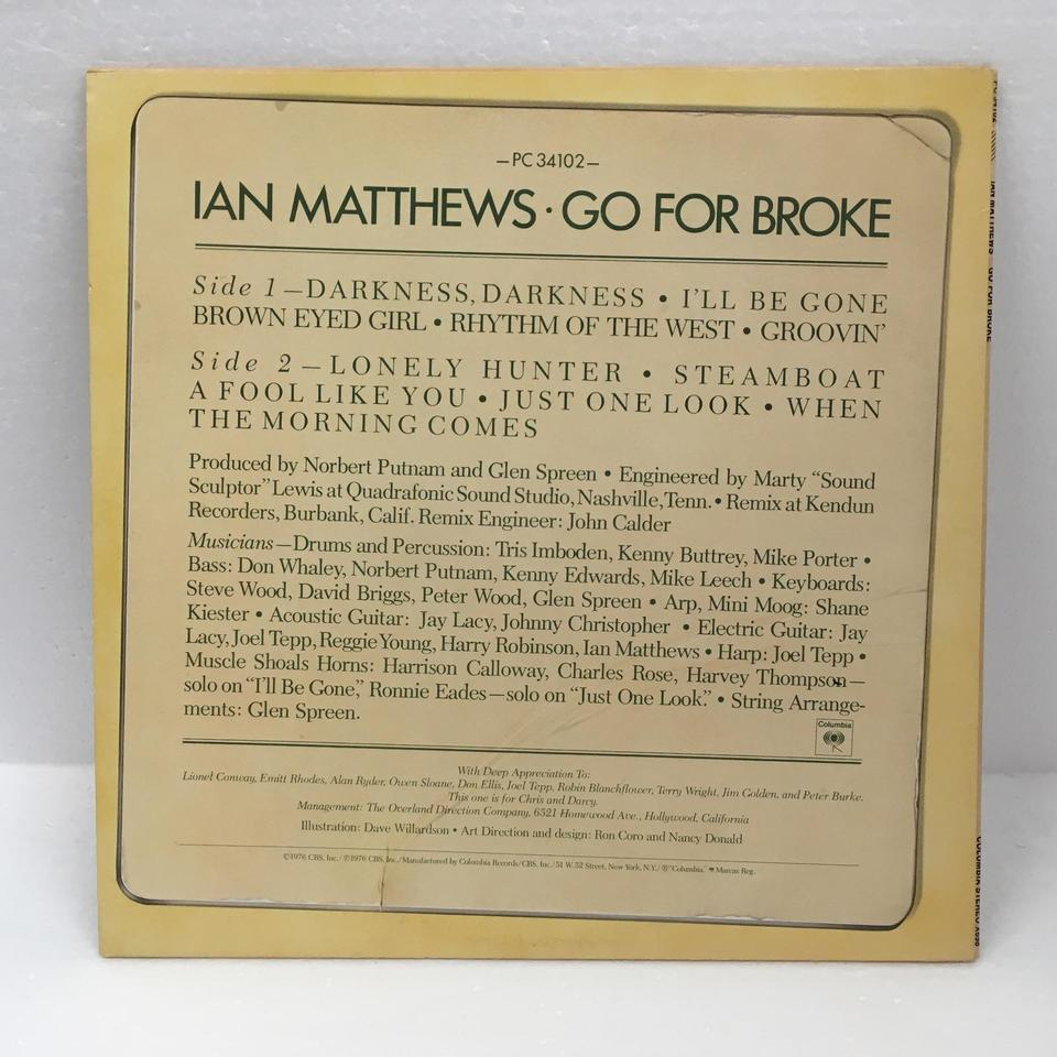 GO FOR BROKE/IAN MATTHEWS IAN MATTHEWS 画像
