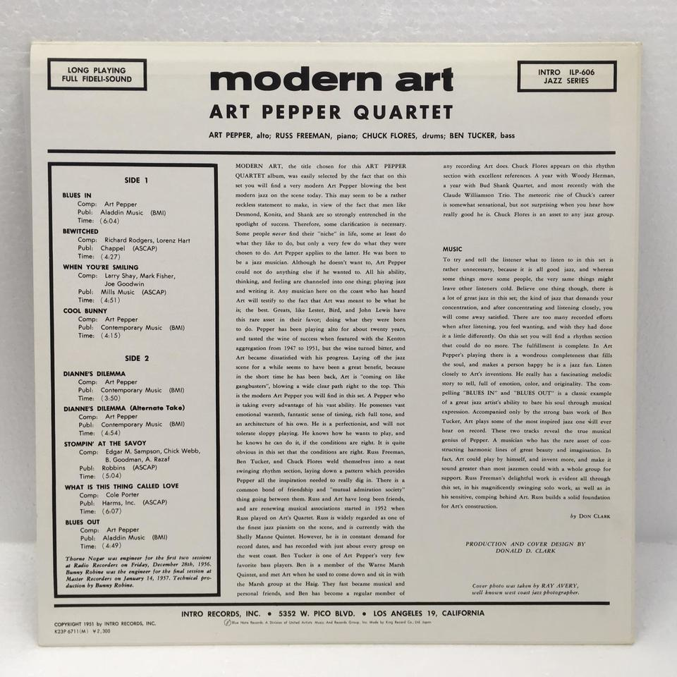 MODERN ART/ART PEPPER ART PEPPER 画像