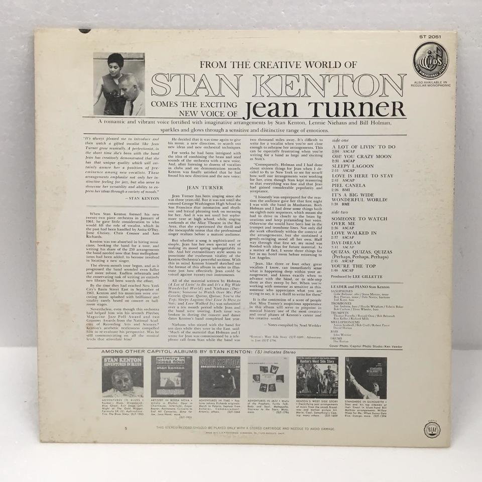 FROM THE CREATIVE WORLD OF STAN KENTON COMES THE EXCITING NEW VOICE OF JEAN TURNER JEAN TURNER 画像