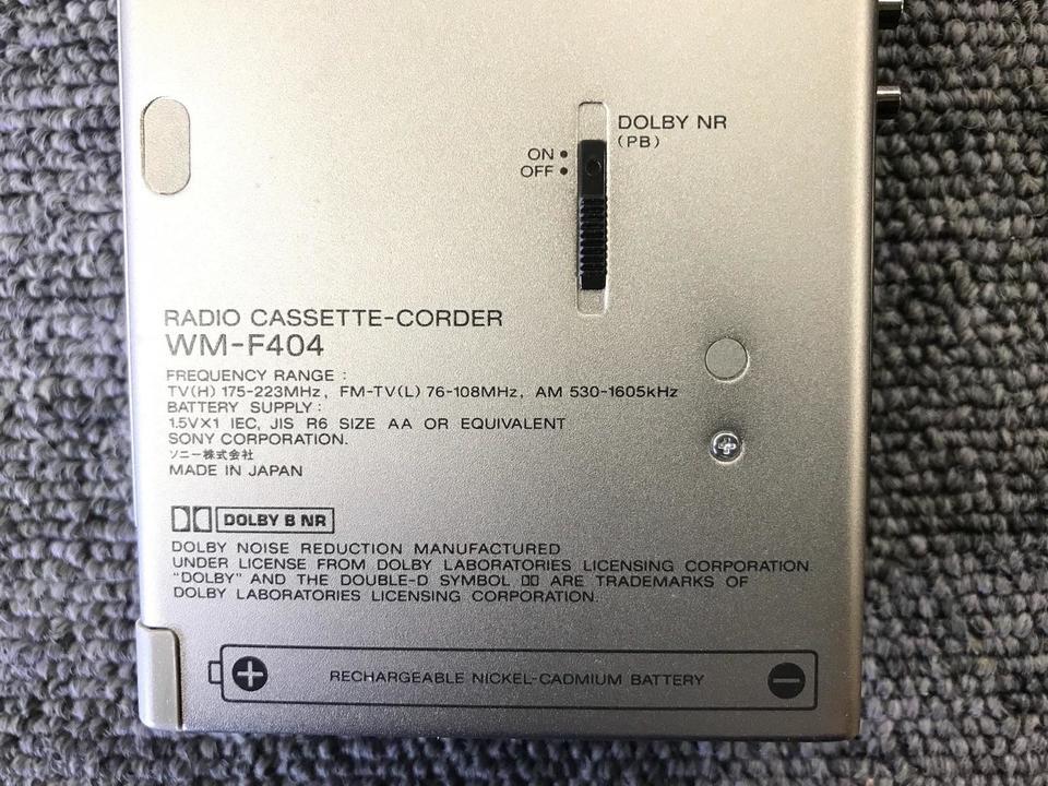 WM-F404 SONY 画像