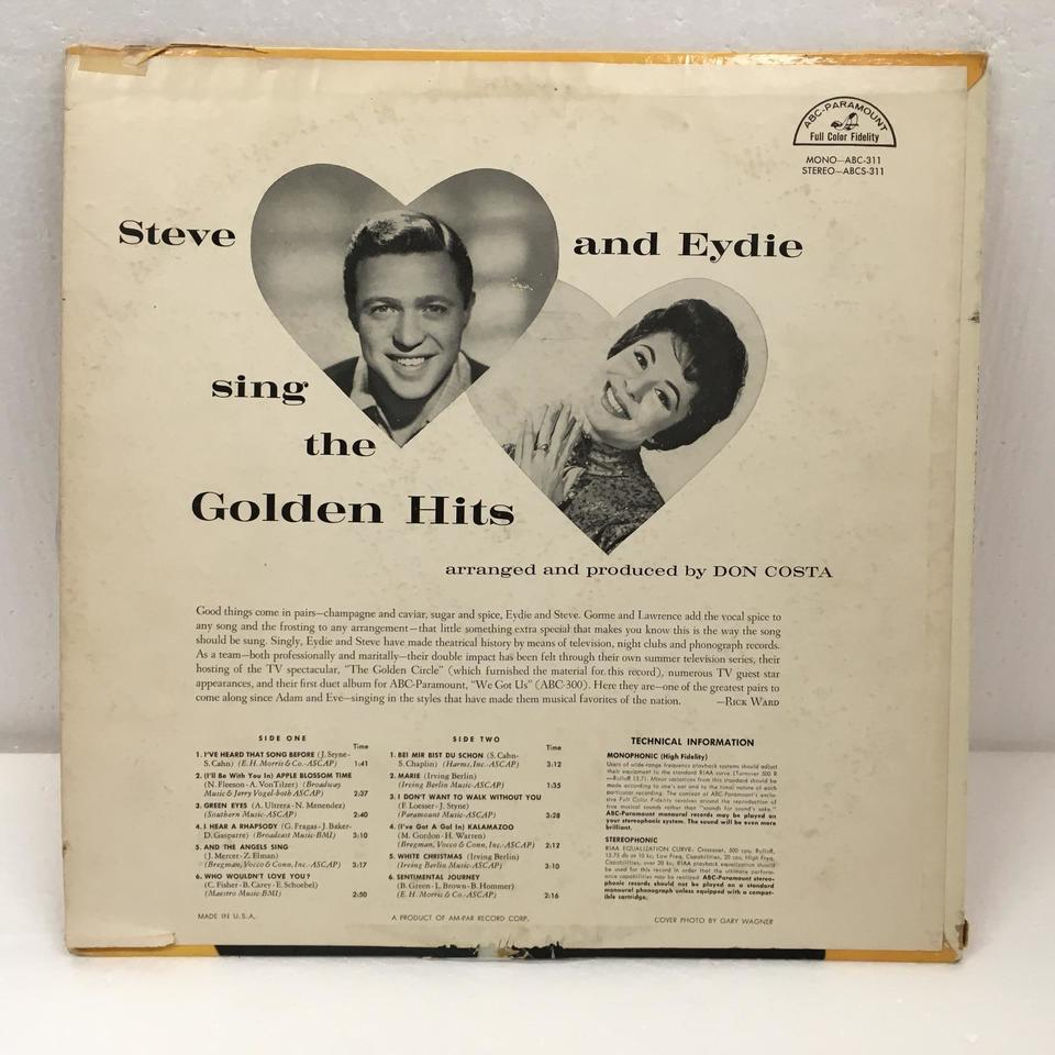 SING THE GOLDEN HITS/EYDIE AND STEVE EYDIE GORME/STEVE LAWRENCE 画像