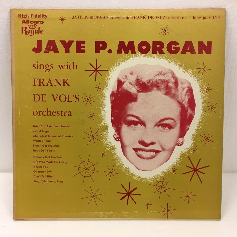 JAYE P. MORGAN SINGS WITH FRANK DE VOL'S ORCHESTRA JAYE P. MORGAN 画像