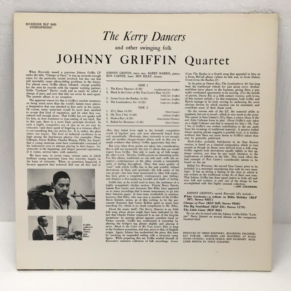 THE KERRY DANCERS/JOHNNY GRIFFIN JOHNNY GRIFFIN 画像