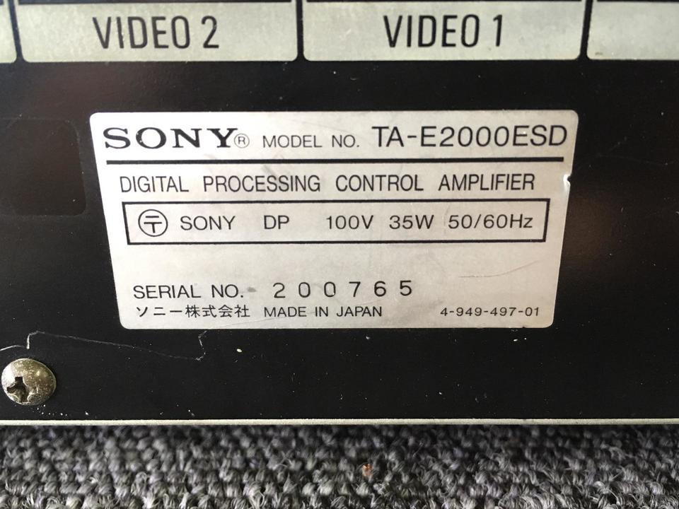 TA-E2000ESD SONY 画像
