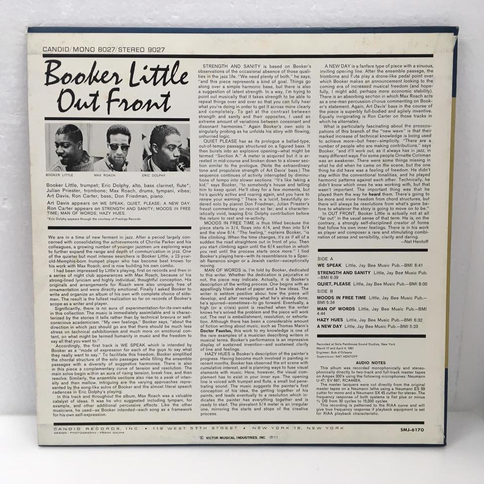 OUT FRONT/BOOKER LITTLE BOOKER LITTLE 画像