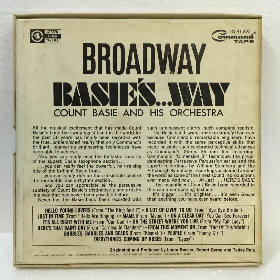 BROADWAY BASIE'S WAY/COUNT BASIE AND HIS ORCHESTRA COUNT BASIE 画像
