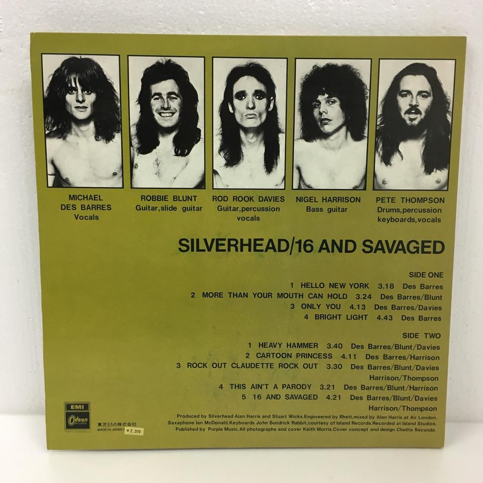 16 AND SAVAGED/SILVERHEAD SILVERHEAD 画像