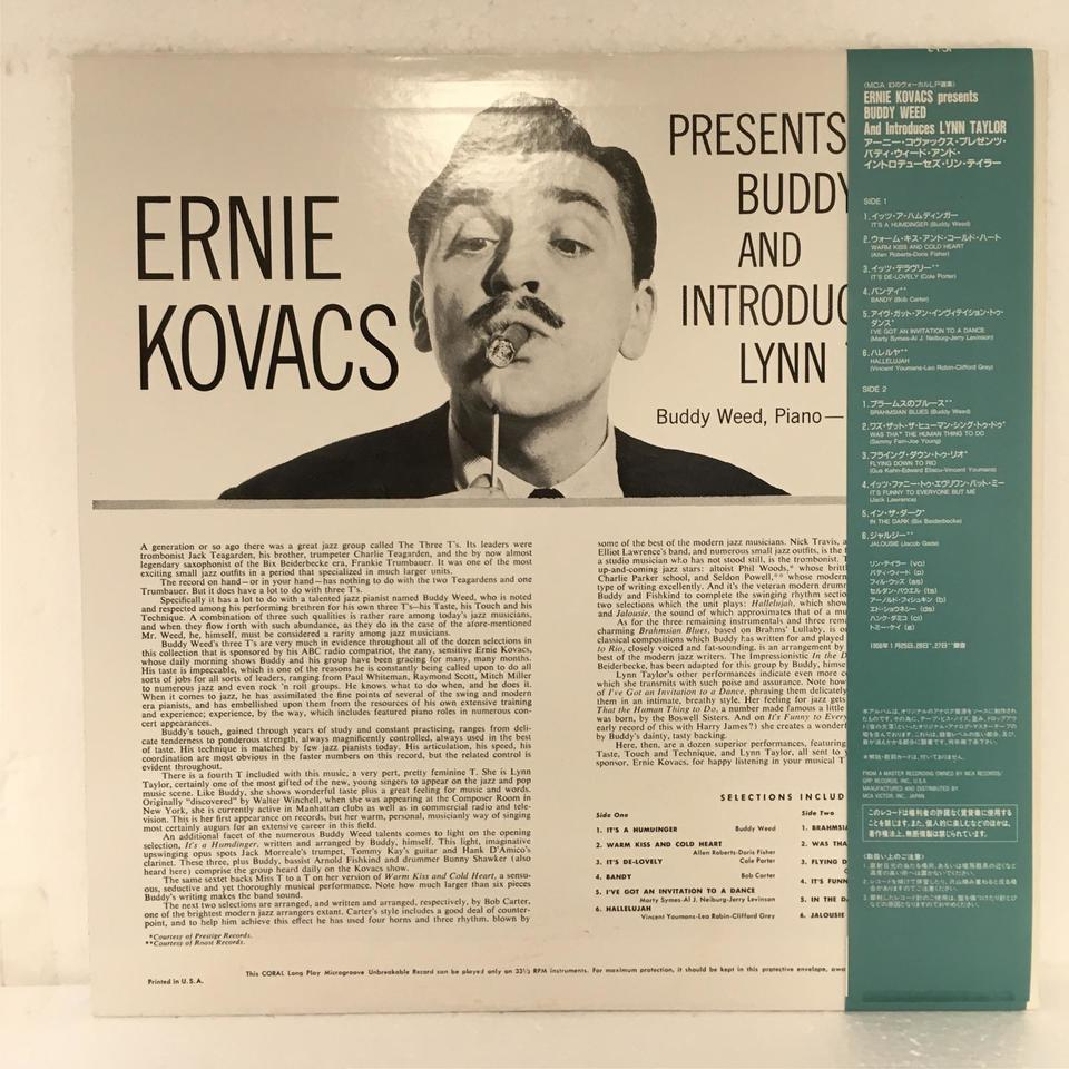 ERNIE KOVACS PRESENTS BUDDY WEED AND INTRODUCES LYNN TAYLOR ERNIE KOVACS 画像