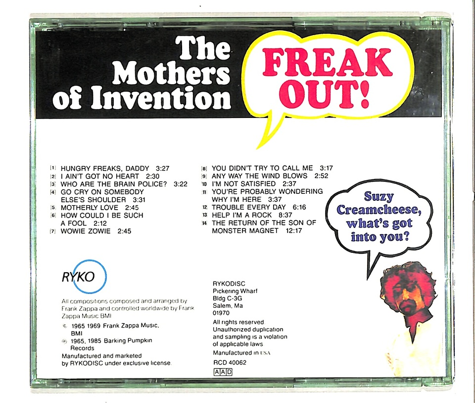 FREAK OUT!/THE MOTHERS OF INVENTION THE MOTHERS OF INVENTION 画像