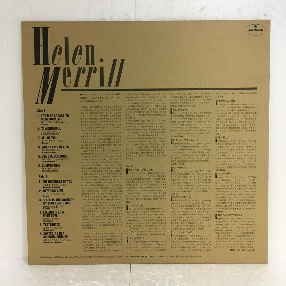 COLLECTION/HELEN MERRILL HELEN MERRILL 画像