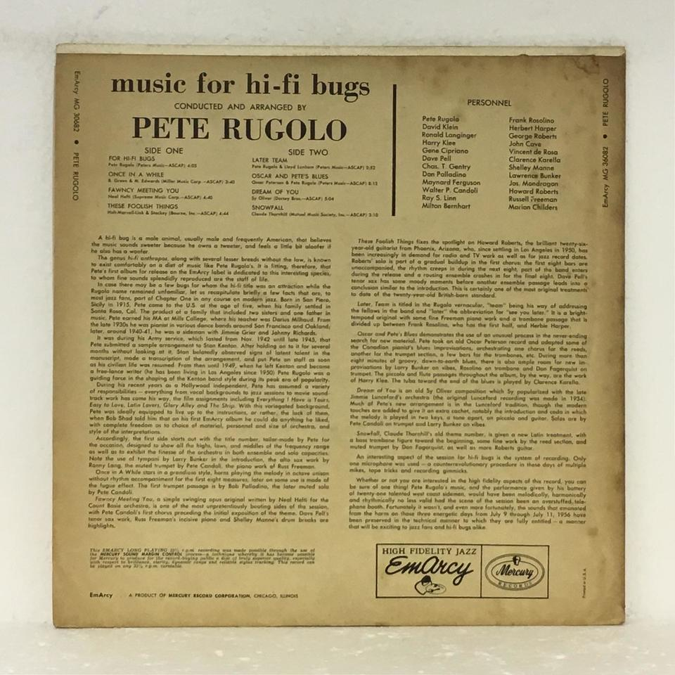 MUSIC FOR HI-FI BUGS/PETE RUGOLO PETE RUGOLO 画像