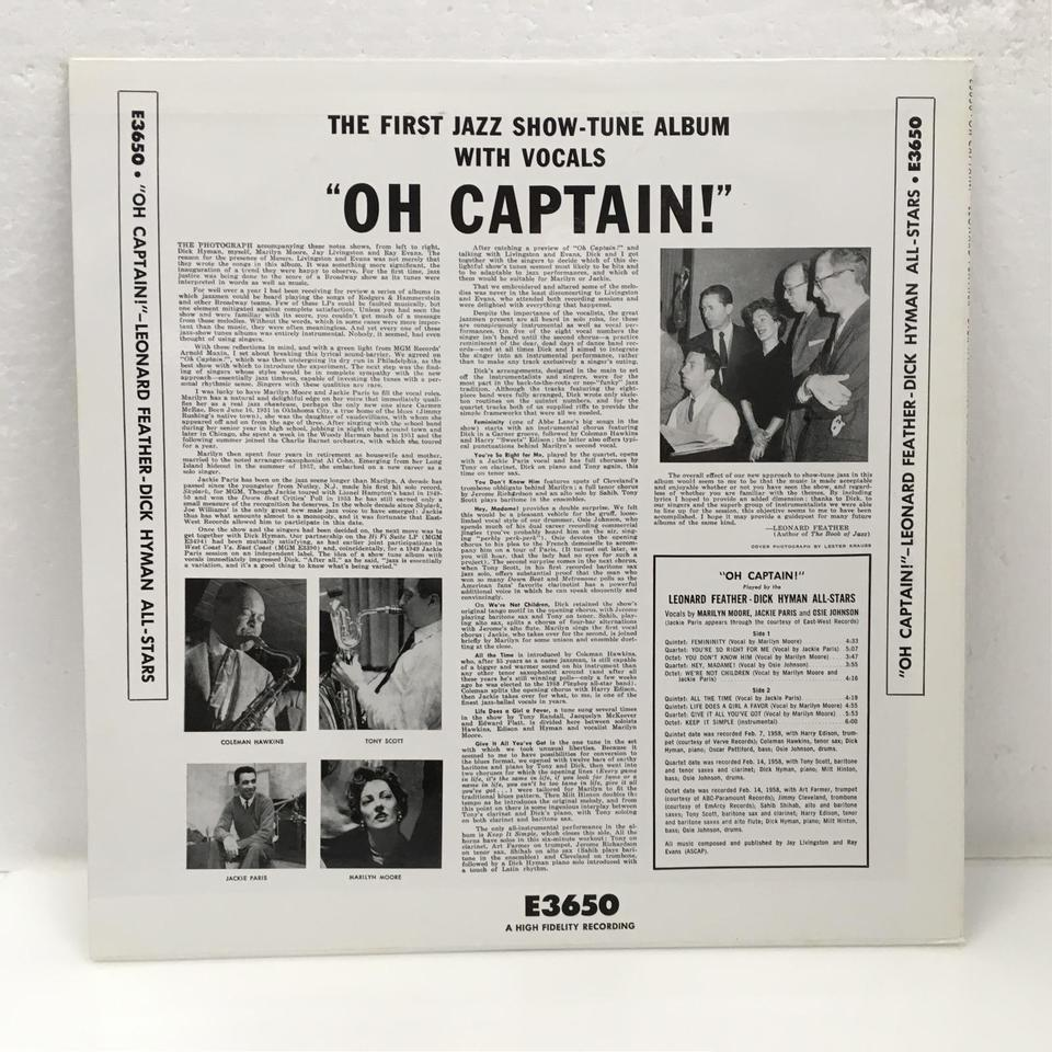OH CAPTAIN!/LEONARD FEATHER-DICK HYMAN ALLSTARS LEONARD FEATHER/DICK HYMAN 画像