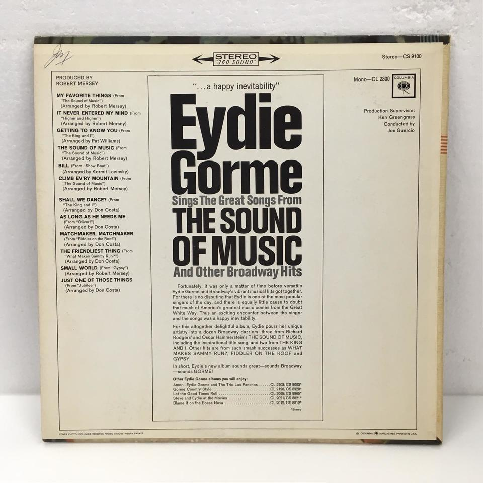 THE SOUND OF MUSIC/EYDIE GORME EYDIE GORME 画像