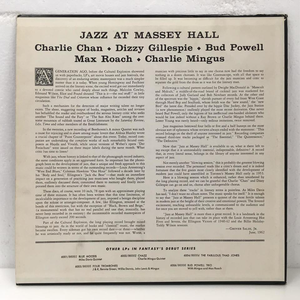 JAZZ AT MASSEY HALL/CHARLIE PARKER CHARLIE PARKER 画像
