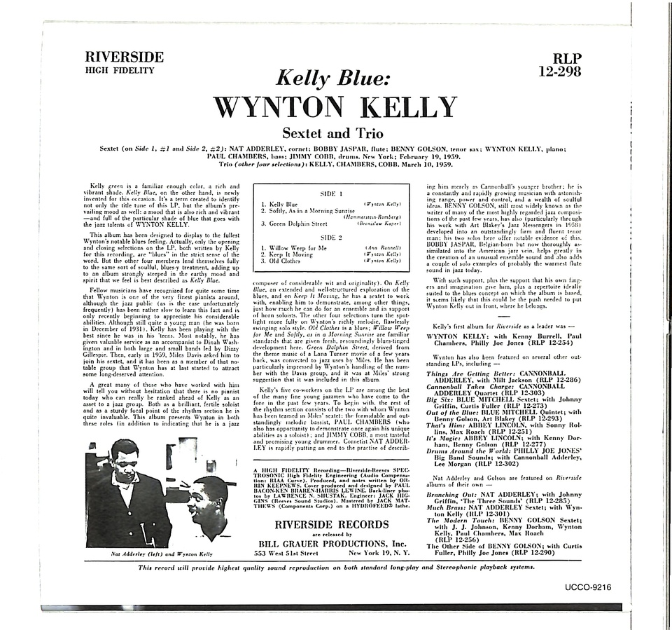 KELLY BLUE/WYNTON KELLY WYNTON KELLY 画像