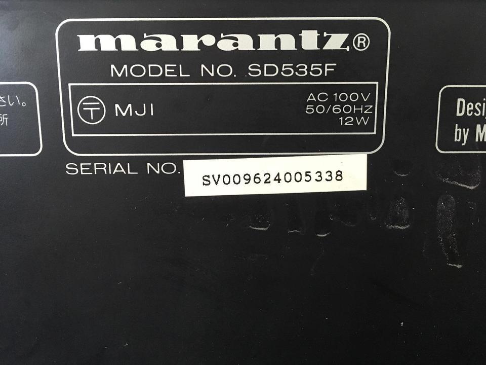 SD535 marantz 画像