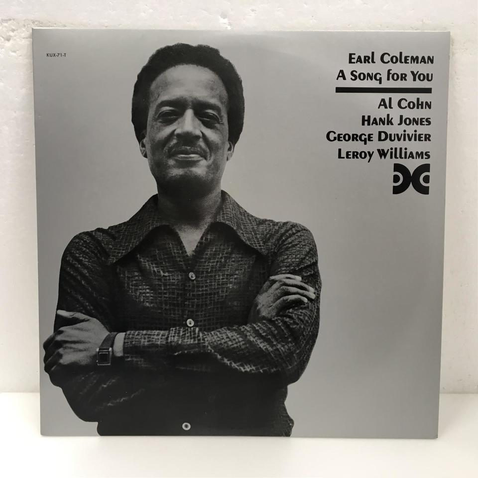 A SONG FOR YOU/EARL COLEMAN EARL COLEMAN 画像