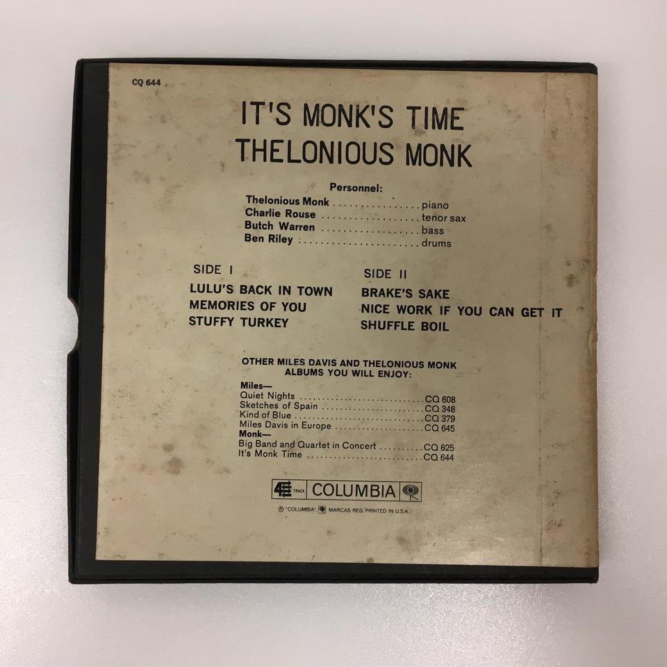 IT'S MONK'S TIME/THELONIOUS MONK THELONIOUS MONK 画像