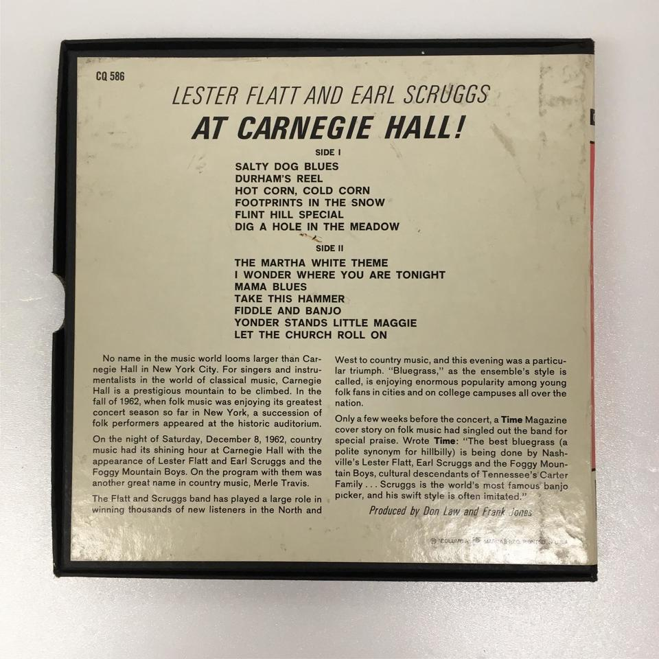 LESTER FLATT AND EARL SCRUGGS AT CARNEGIE HALL! LESTER FLATT/EARL SCRUGGS 画像