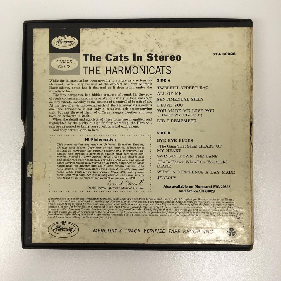 THE CATS IN STEREO/THE HARMONICATS THE HARMONICATS 画像