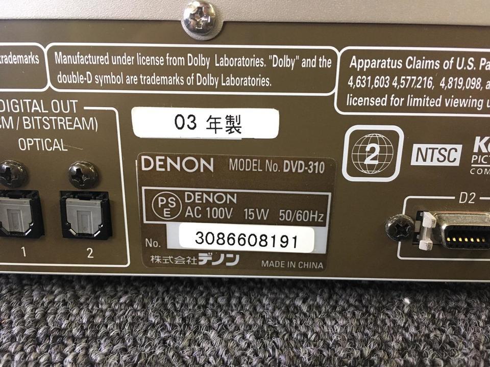 DVD-310 DENON 画像