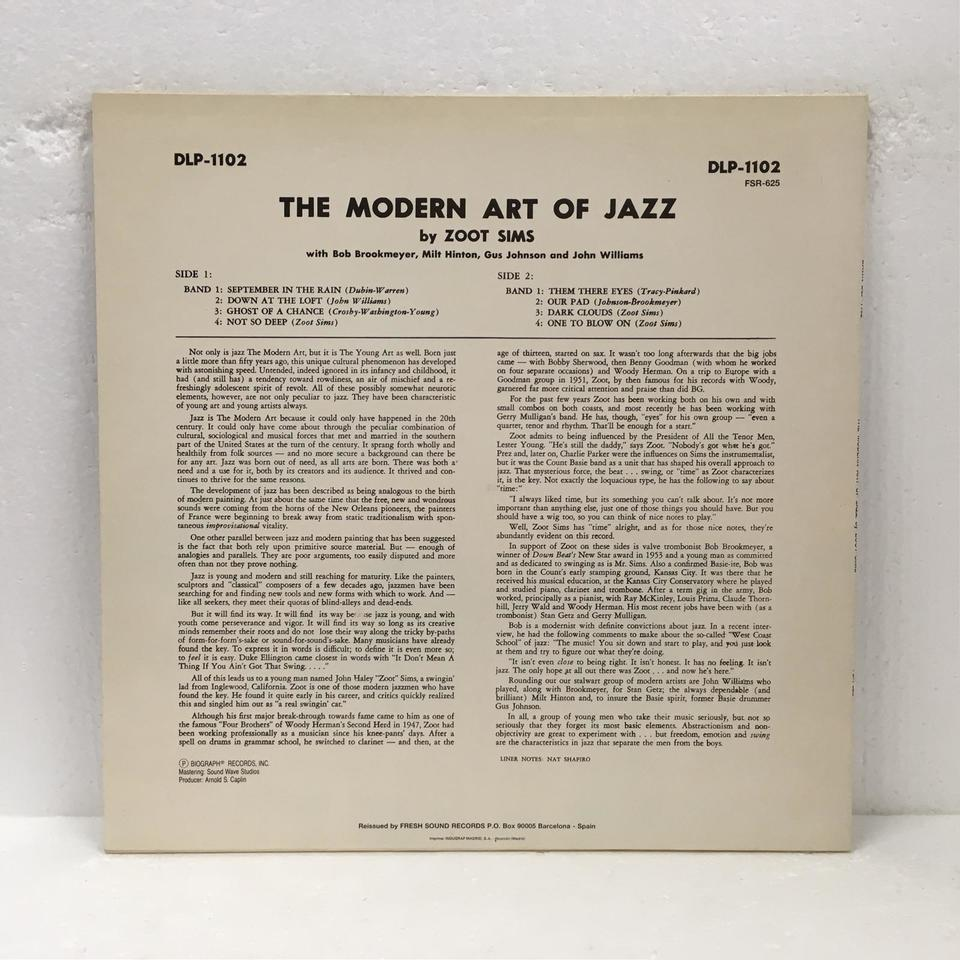 THE MODERN ART OF JAZZ BY ZOOT SIMS ZOOT SIMS 画像